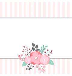 Floral Bouquet Card vector image vector image