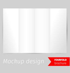 fourfold brochure mockup design vector image vector image