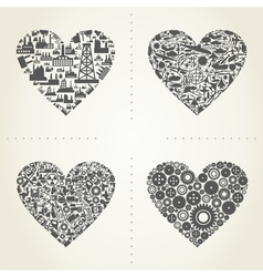 Heart the industry2 vector image