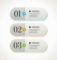 Horizontal gray options banners or buttons vector image