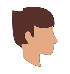 human head silhouette vector image vector image