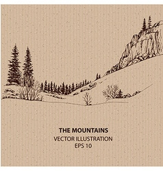 In the mountains vector