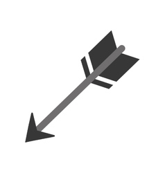 Isolated bow arrow vector