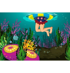 Legs in the sea vector image vector image