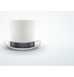 Light Background White gentleman hat cylinder with vector image vector image
