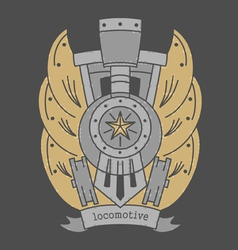 Locomotive emblem darkvs vector