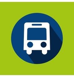 Man tourist traveler bus transport design graphic vector