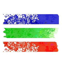 Rainbow paper stripe banners vector