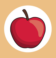 red apple healthy fresh image vector image