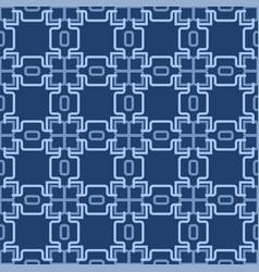 Retro blue seamless wallpaper vector