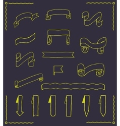 Set of ribbons and tags vector image