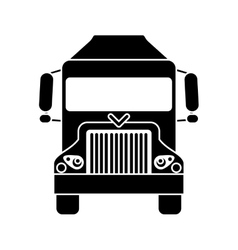 Silhouette truck delivery shipping cargo vector
