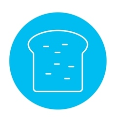 Single slice of bread line icon vector image