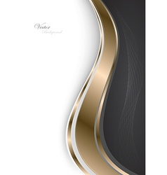 Stylish abstract gold background vector image vector image