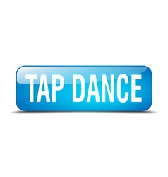 Tap dance blue square 3d realistic isolated web vector