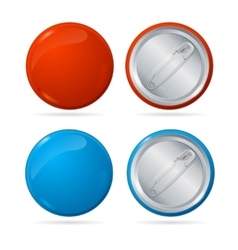 Template Color Blank Circle Button Badge Pin Set vector image vector image