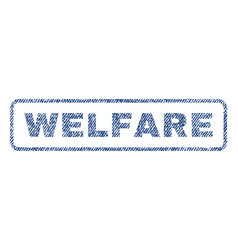Welfare textile stamp vector
