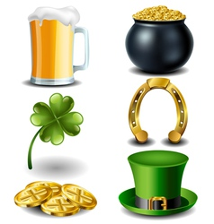 St patricks day symbol set vector