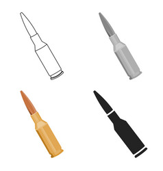 Bullets icon cartoon single weapon icon from the vector