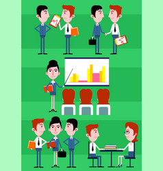 colorful business people infographic concept vector image
