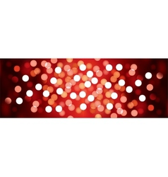 Red festive lights background vector