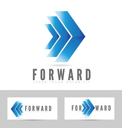 Blue forward logo arrow vector