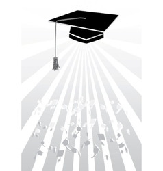 Mortar in graduation in grey vector