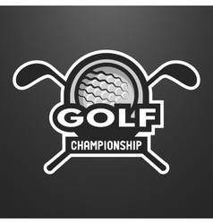 Golf sports logo label emblem vector image