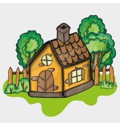 A cartoon house vector