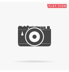 Photo camera simple flat icon vector