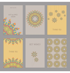 Bright cards vector