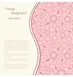 Floral vintage background vector
