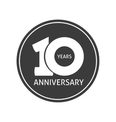 Years 10 anniversary sticker  10th year vector image