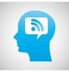 Technology human head vector