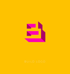 b box logo b monogram vector image