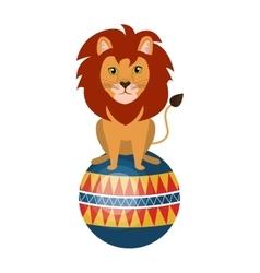 Circus lion animal cartoon design vector