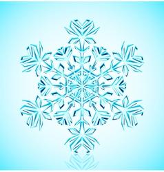 crystal snowflake vector image vector image