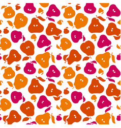 Cute simple flat peir fruit seamless pattern for vector