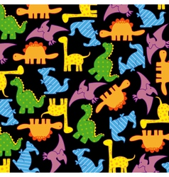 Dinosaurs seamless pattern vector