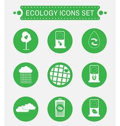 Ecology logo icon set vector image vector image