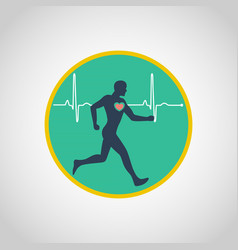 exercise stress test logo icon design vector image