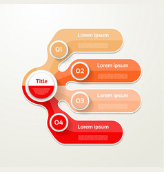 Four elements banner 4 steps design chart vector