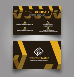 Geometric tiles business card vector