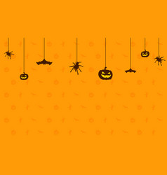 Happy halloween on orange background vector