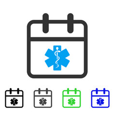 Health care day flat icon vector