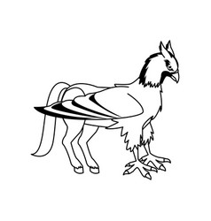 hippogriff greek mythological creature beast vector image vector image