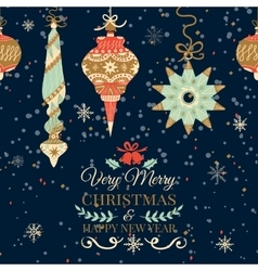 Holiday and Christmas hand drawing greeting card vector image vector image