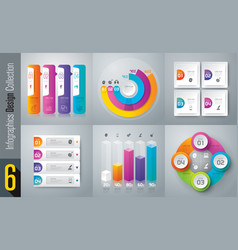 Infographics design set with 3 and 4 options vector