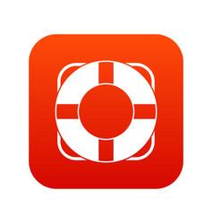 lifeline icon digital red vector image