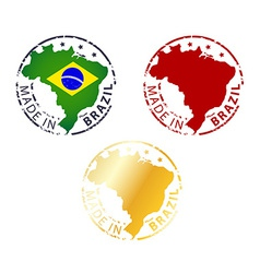 Made in brazil stamp vector